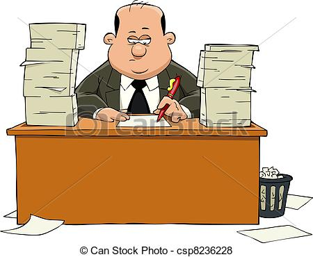 Clipart clerk. Illustrations and royalty free