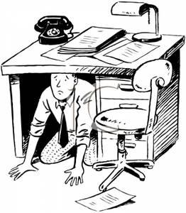 Office kid an hiding. Clipart clerk
