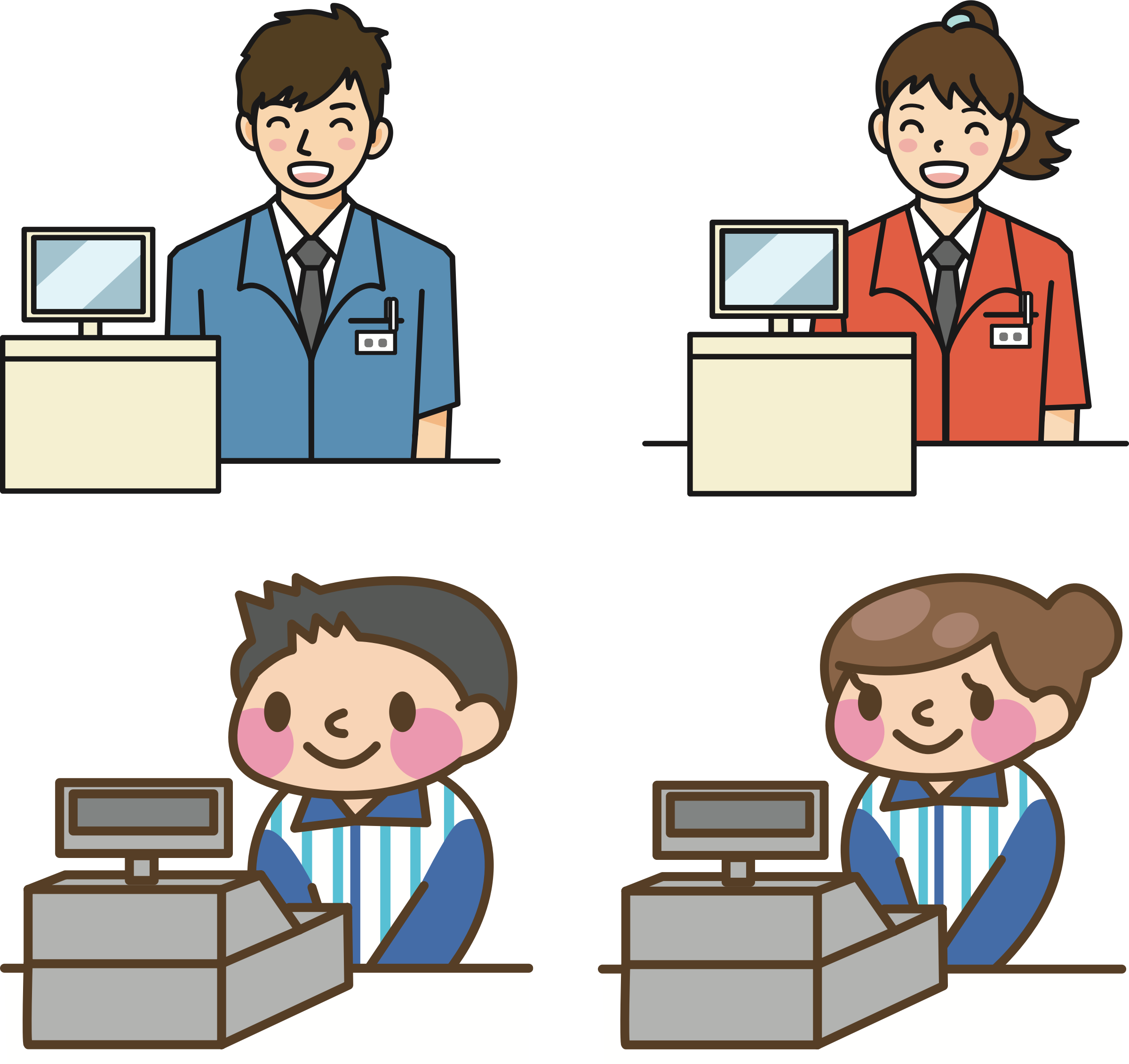 Clipart clerk picture transparent library Clipart - Cashiers picture transparent library