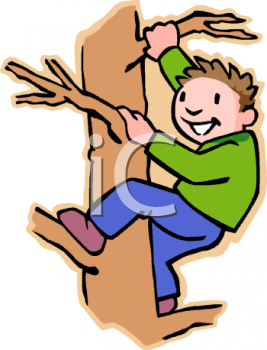 Clipart climbing png royalty free stock climbing a tree\