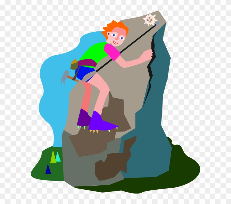 Clipart climbing svg free stock Mountain Climb Clipart - Illustration - Png Download (#1013097 ... svg free stock