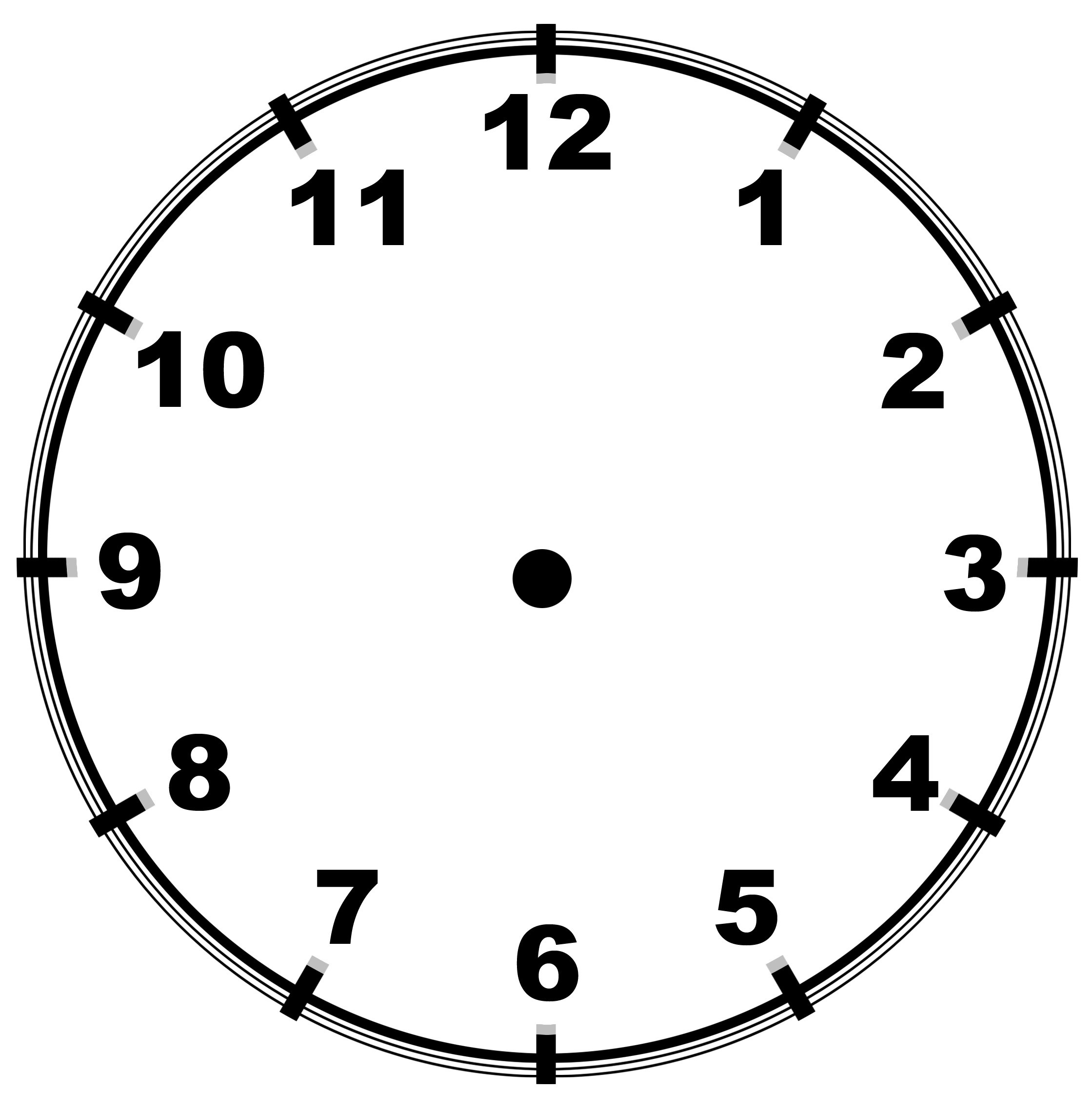 Clipart clock with no hands. Template digital screen saver