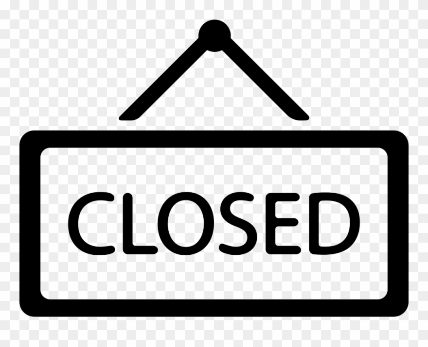 Clipart closing graphic free stock Clipart Closed Sign - Closed Icon - Png Download (#857047) - PinClipart graphic free stock