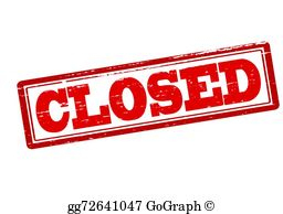 Clipart closing graphic royalty free download Closed Clip Art - Royalty Free - GoGraph graphic royalty free download