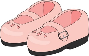 Clipart of a pair of baby booties