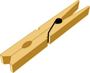 Clothespins clipart