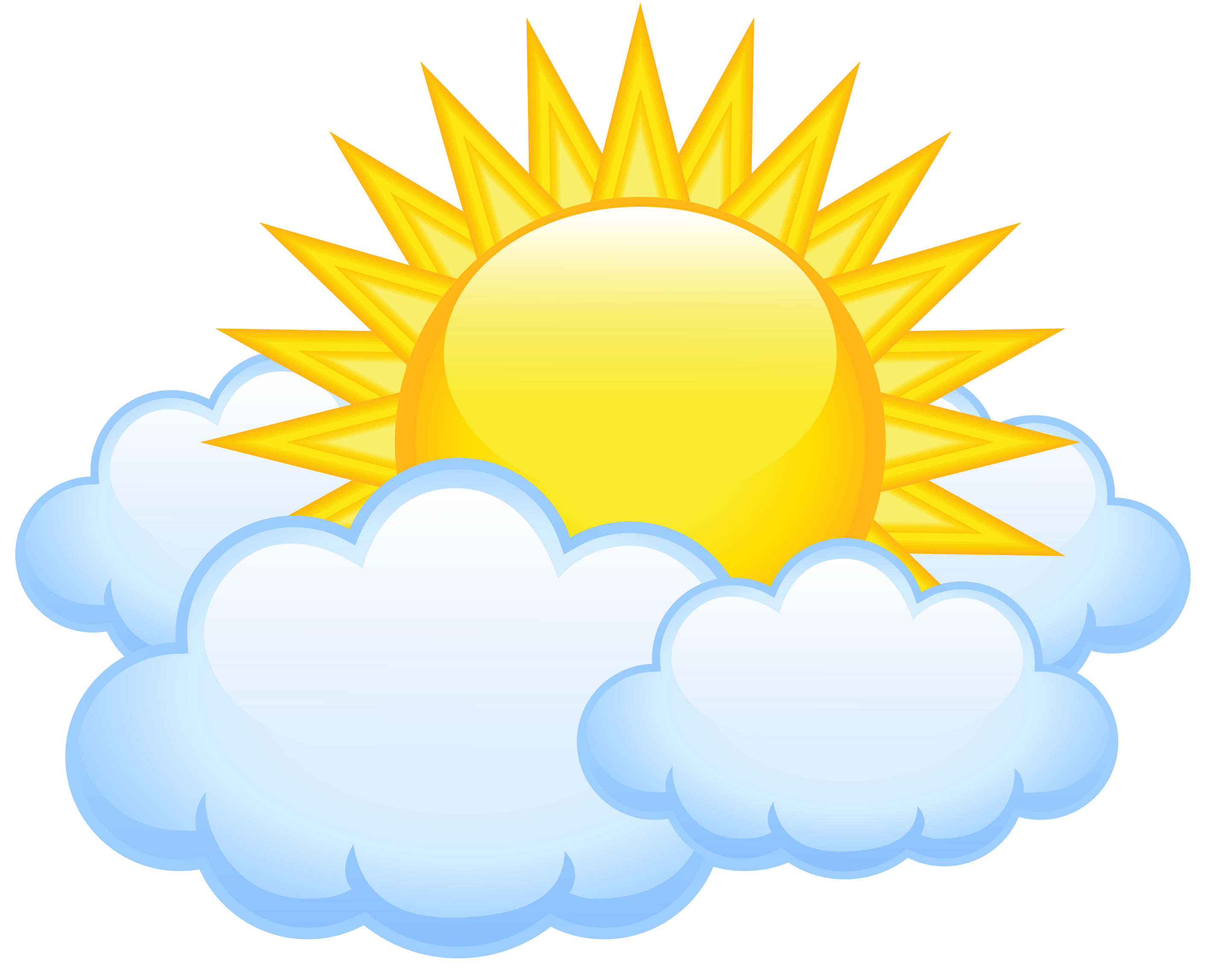 Free clipart sun and clouds graphic transparent download Sun with Clouds Transparent PNG Picture | Gallery Yopriceville ... graphic transparent download