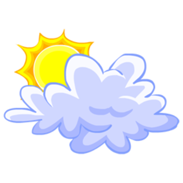 Free clipart sun and clouds image freeuse Cloud Sun 256x256 | Free Images at Clker.com - vector clip art ... image freeuse