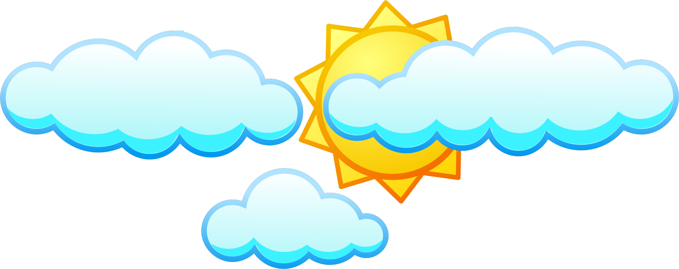 Clouds covering the sun clipart vector black and white download Sun Cloud Clipart | Free download best Sun Cloud Clipart on ... vector black and white download