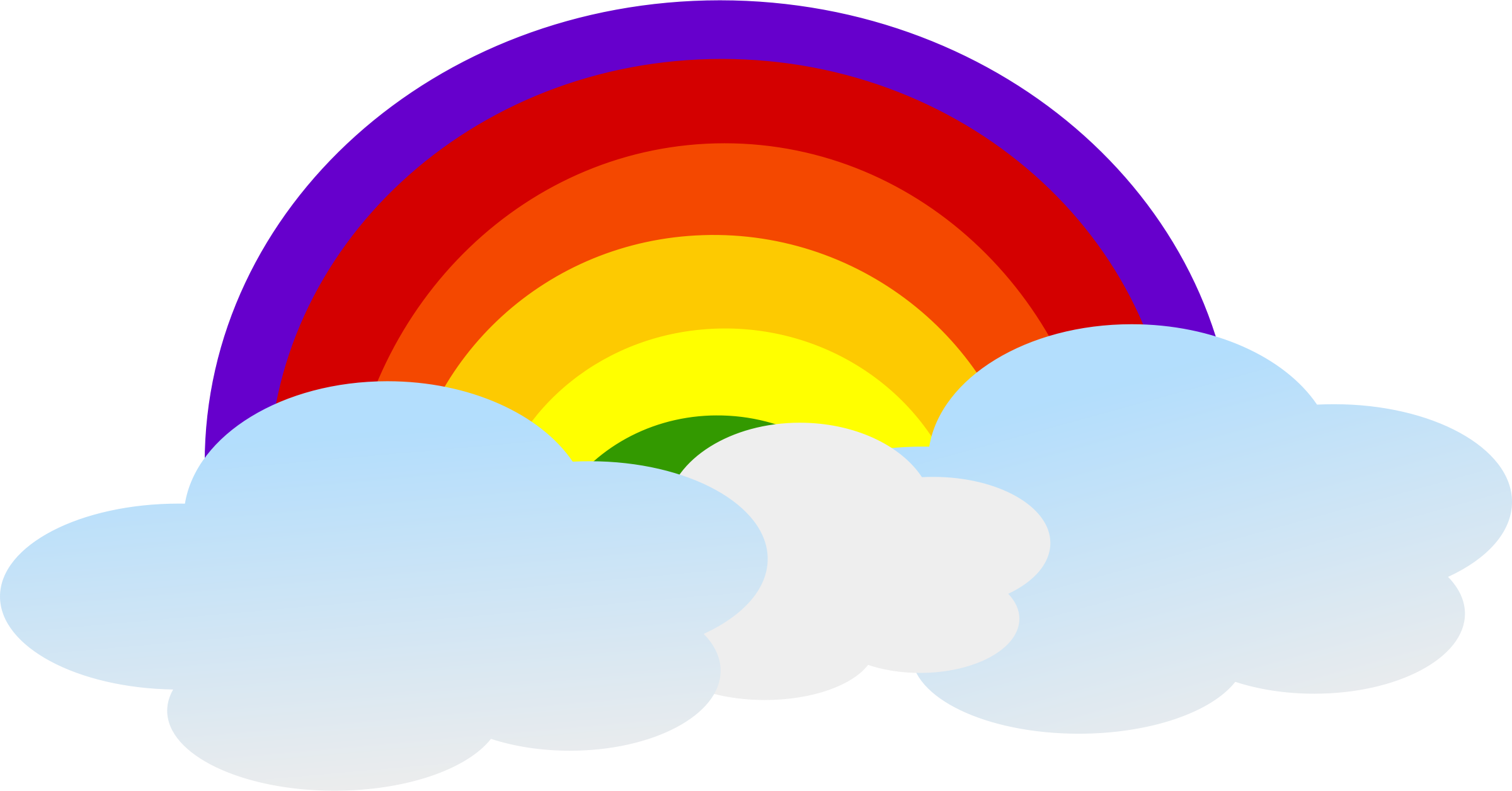 Rainbow and sun clipart background