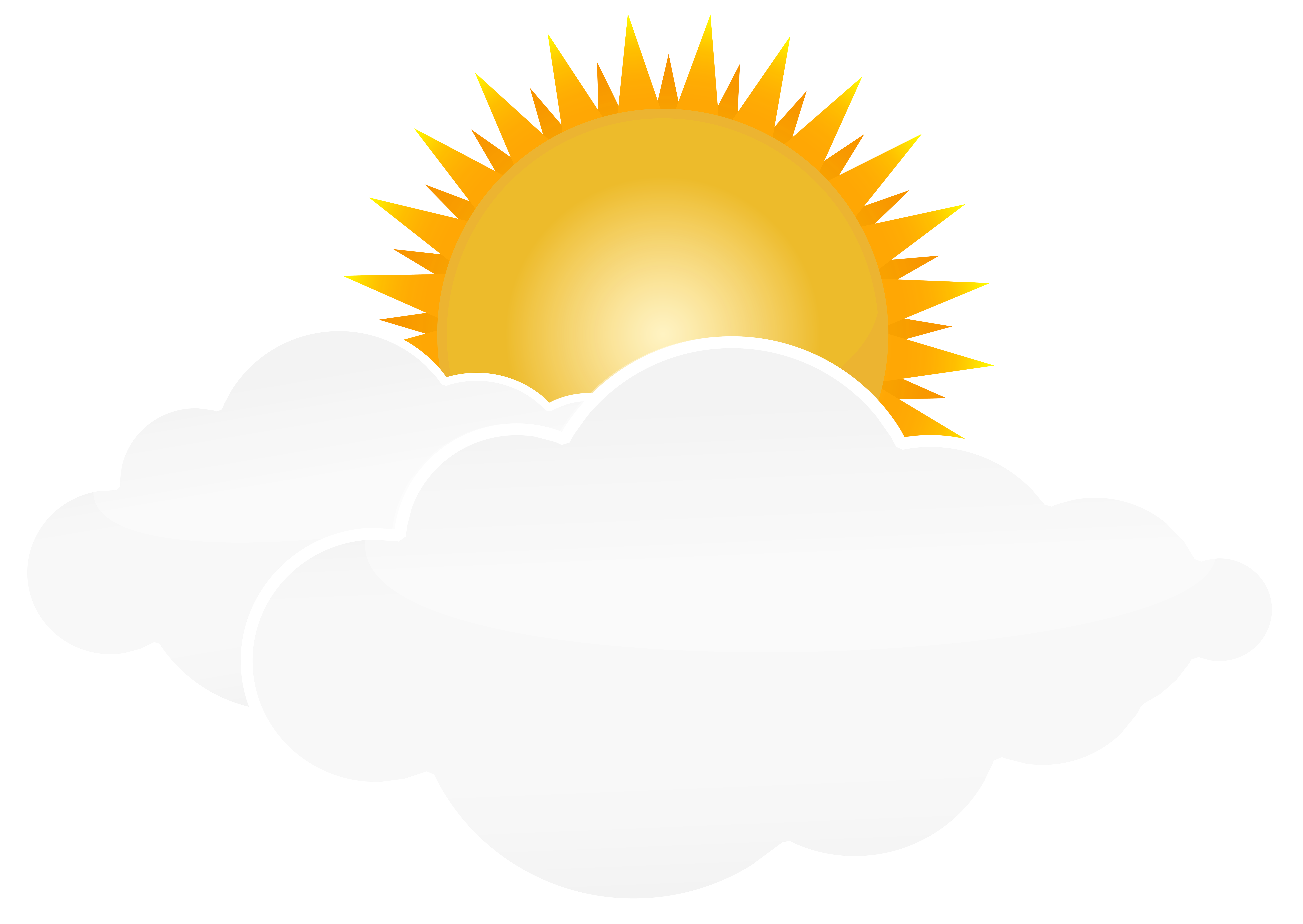Cloud and sun clipart clipart library download Sun with Clouds PNG Transparent Clip Art Image | Gallery ... clipart library download