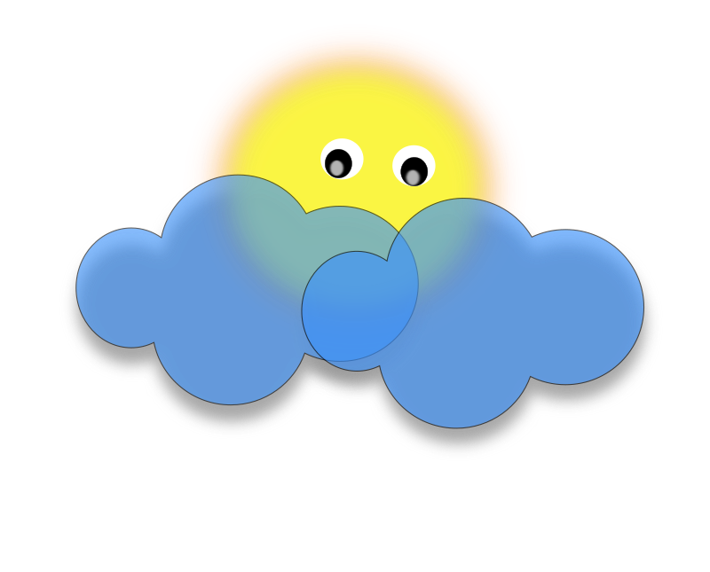 Cloud sun clipart svg royalty free stock Clipart - Cloud svg royalty free stock