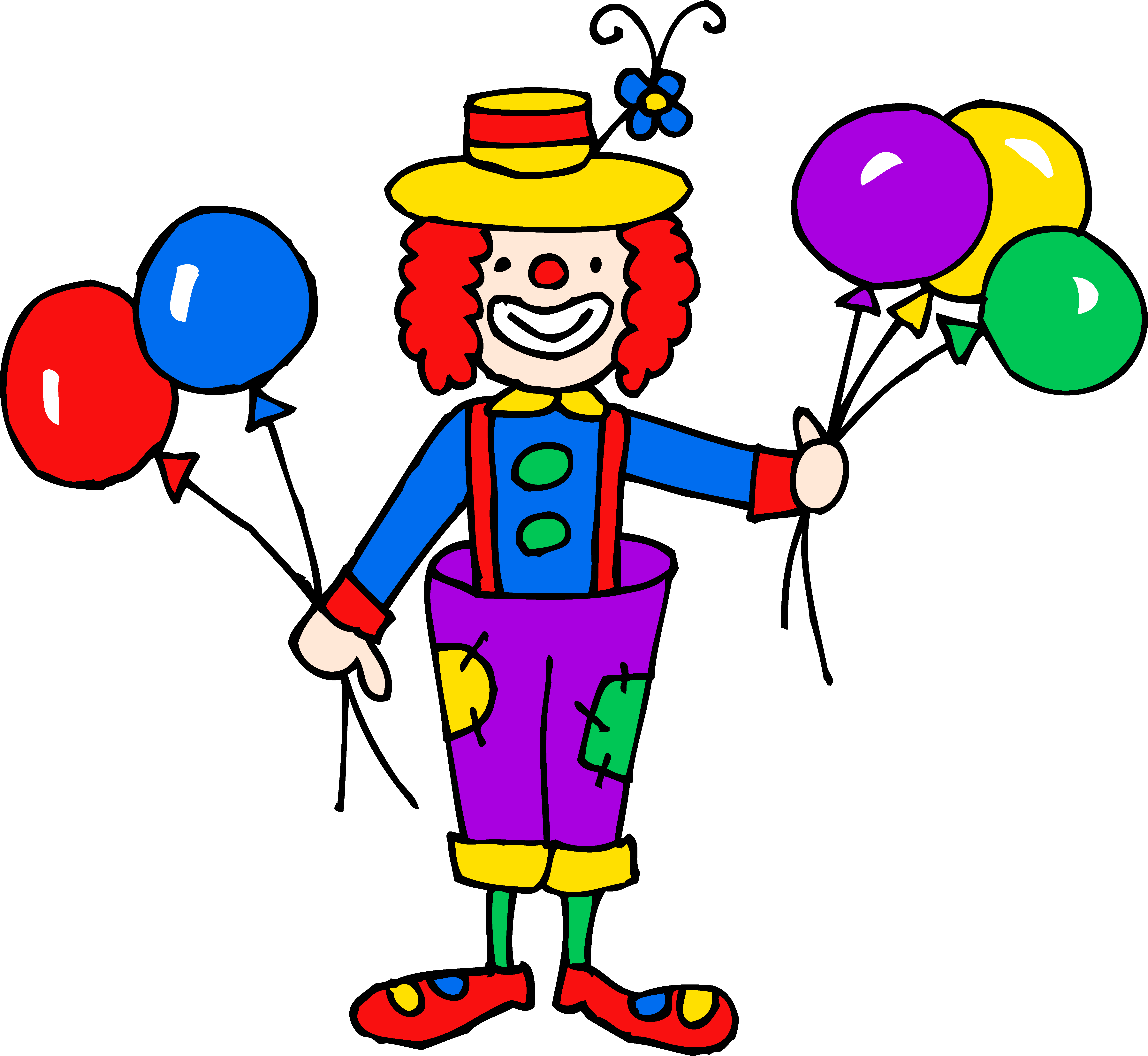Clipart clown graphic download Cute Colorful Clown Clipart - Free Clip Art graphic download