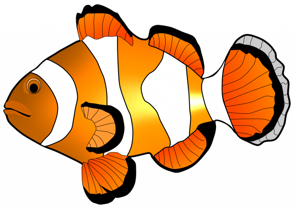 Kawaii fish clipart clip black and white stock Clown Fish Clipart at GetDrawings.com | Free for personal use Clown ... clip black and white stock