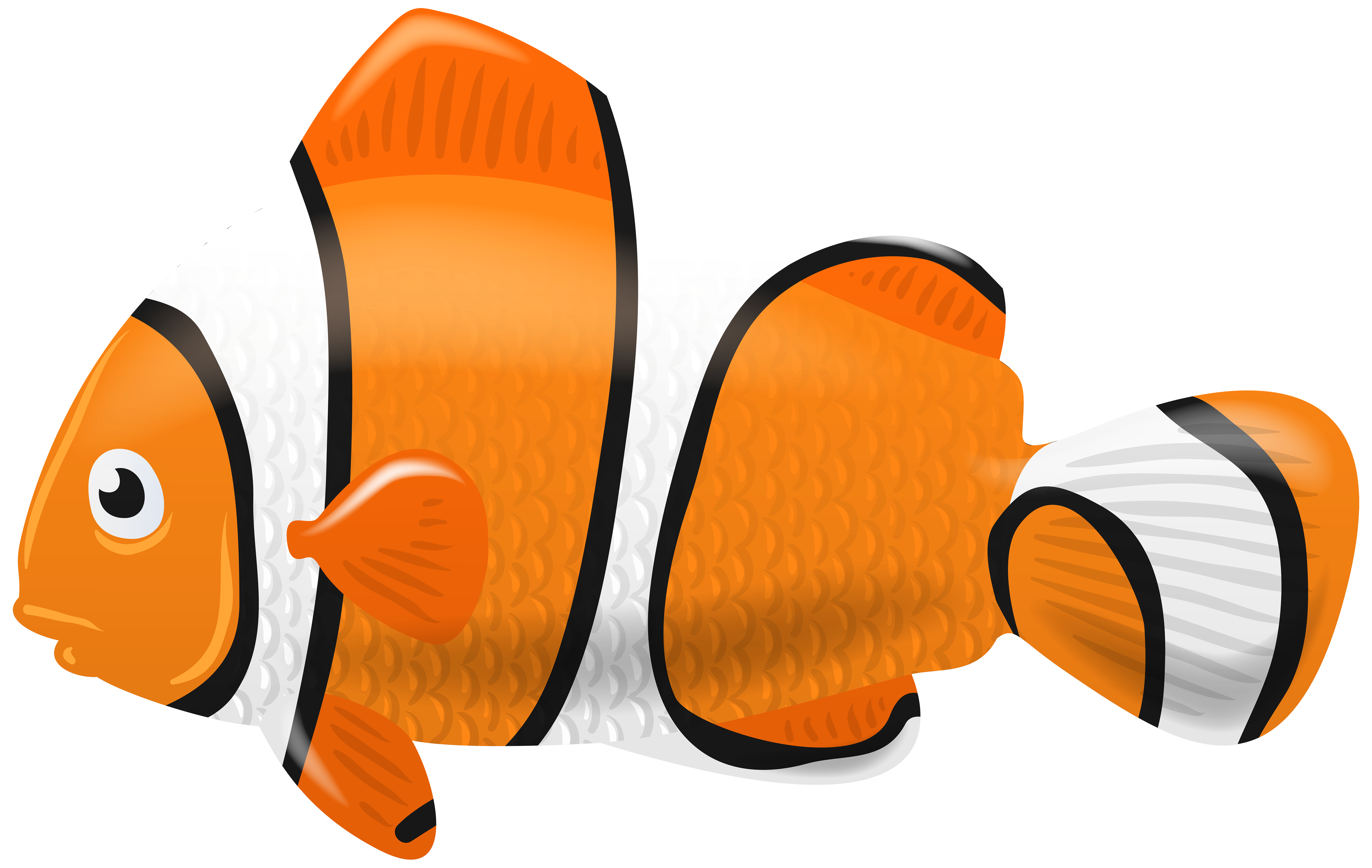Clipart fish png banner library download Fish Clown PNG Clip Art Image | Gallery Yopriceville - High-Quality ... banner library download