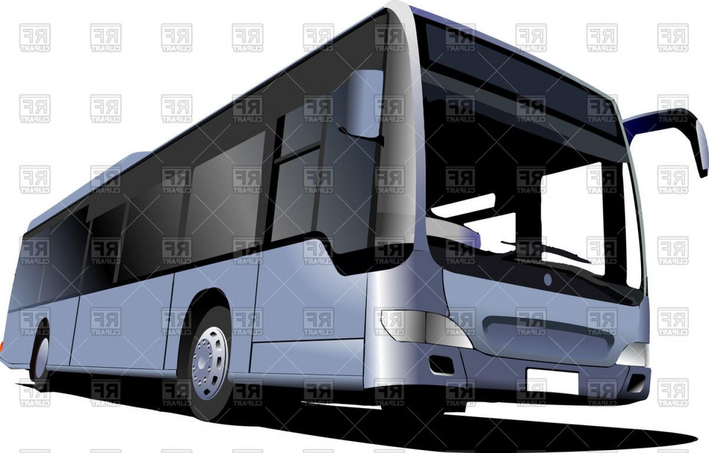 Clipart coach bus clip art free stock Blue Tourist Coach City Bus Vector Clipart | SOIDERGI clip art free stock