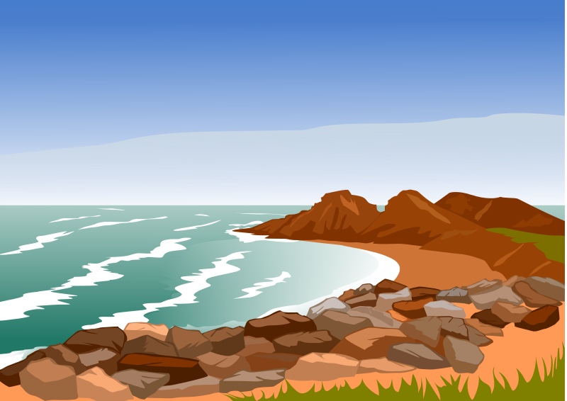 Clipart coast vector library stock Free Clipart: Rocky Coast | am1969 vector library stock