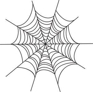 Cobweb clipart free vector library download Spider Web Clipart Image: Creepy spider web Halloween graphic ... vector library download