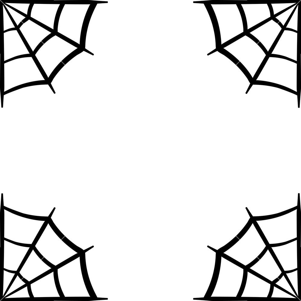 Cobweb clipart free banner royalty free library Spider web icon. Spider web frame. Cobweb vector silhouette ... banner royalty free library