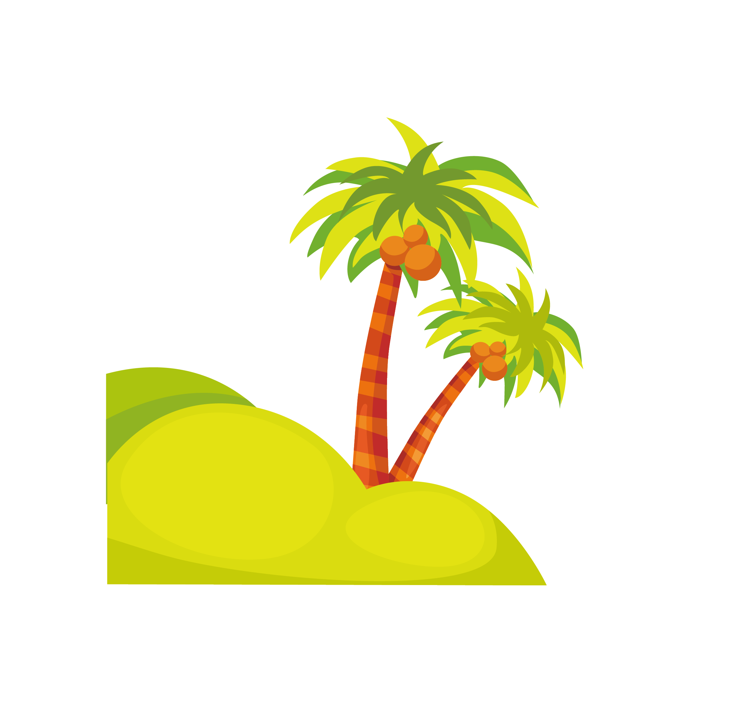 Clipart coconut tree image black and white Cartoon Clip art - coconut tree 2483*2384 transprent Png Free ... image black and white