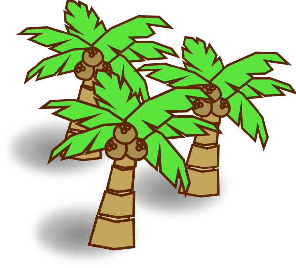 Palm tree with coconuts clipart free stock Coconut Trees Clip Art at Clker.com - vector clip art online ... free stock