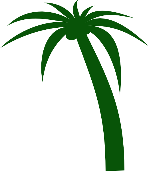 Free sun palm clipart black and white download Coconut Tree Clip Art at Clker.com - vector clip art online, royalty ... black and white download