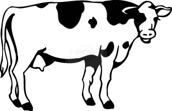 Cow outline clipart