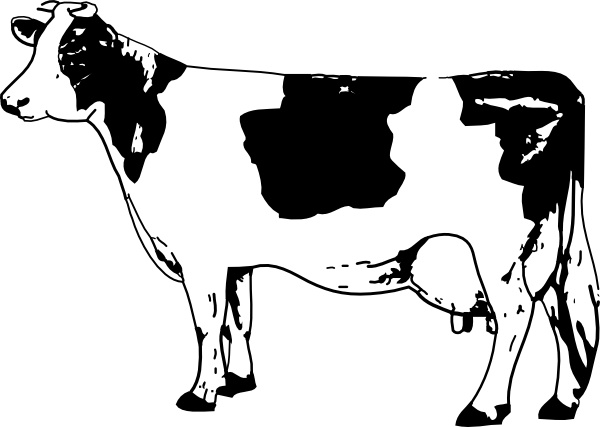 Free black cow clipart black and white svg freeuse Cow clip art Free vector in Open office drawing svg ( .svg ) vector ... svg freeuse