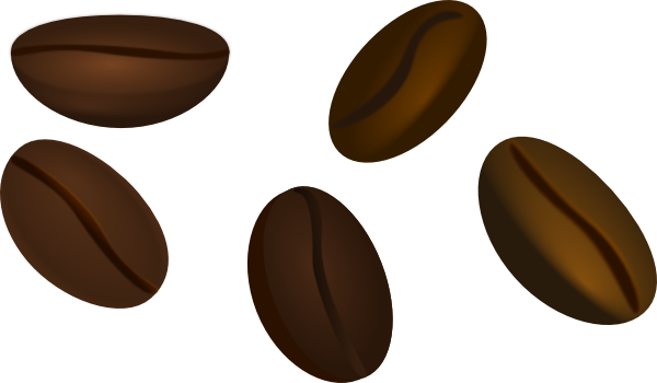 Clipart coffee beans picture black and white download Coffee Beans clip art - vector | Clipart Panda - Free Clipart Images picture black and white download