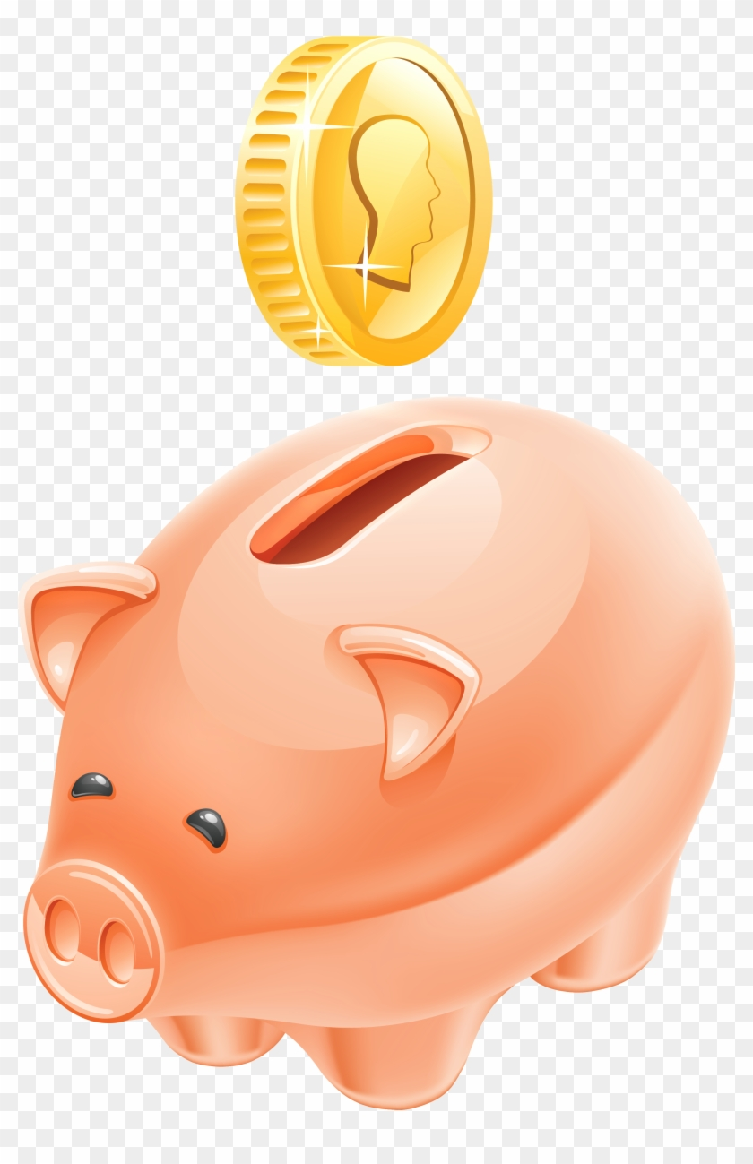 Clipart coin with a pig on it clip free library Piggy Bank Clipart Picture - Piggy Bank Money Png - Free Transparent ... clip free library