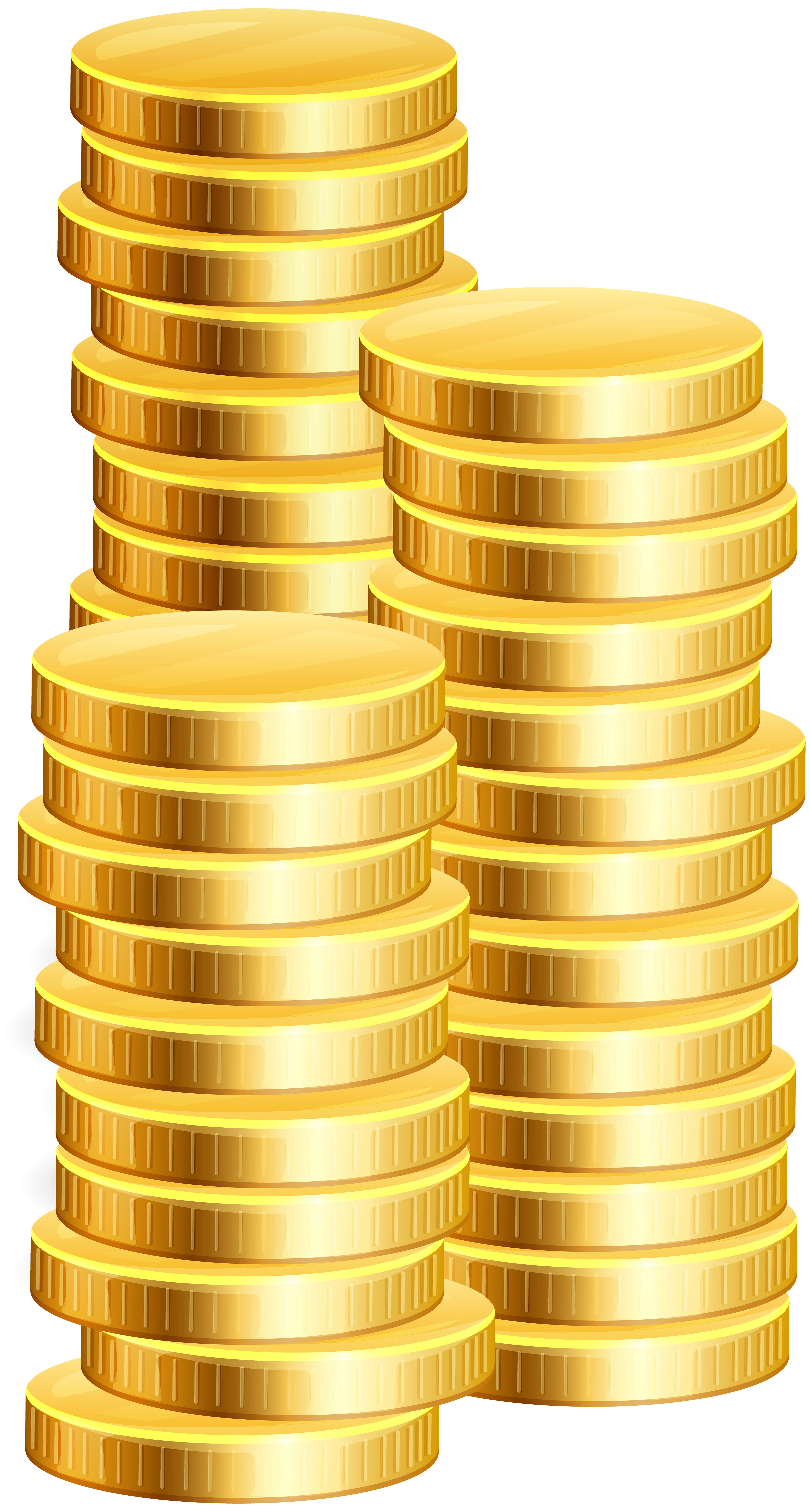 Clipart money gold picture black and white download Coins PNG Clip Art - Best WEB Clipart picture black and white download