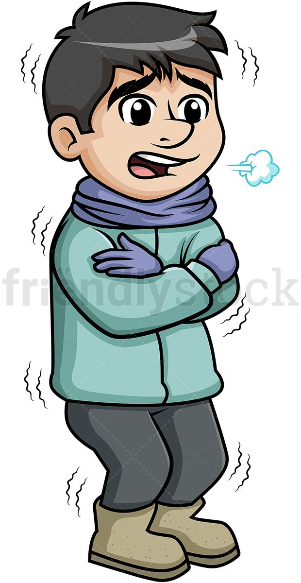 To be cold clipart vector freeuse download Man Shivering From The Winter Cold | track gotttttt... ecko | Free ... vector freeuse download