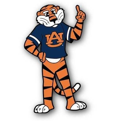 Clipart college mascots graphic transparent Auburn Tigers \
