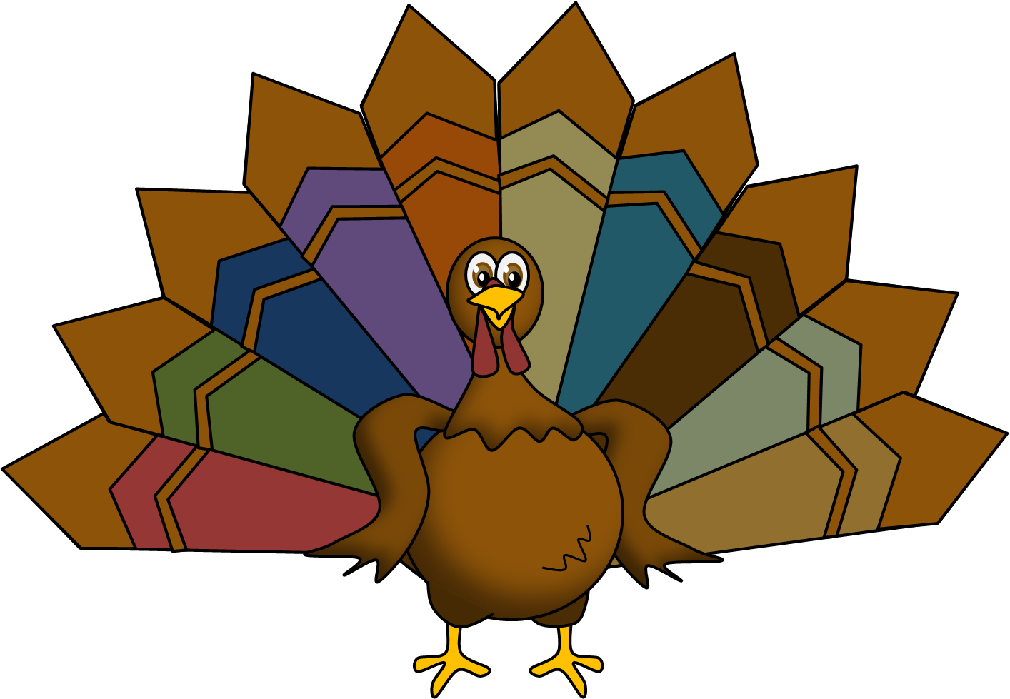 Clipart turkey feather banner transparent library Turkey clipart turkey feather pencil and in color png - Clipartix banner transparent library