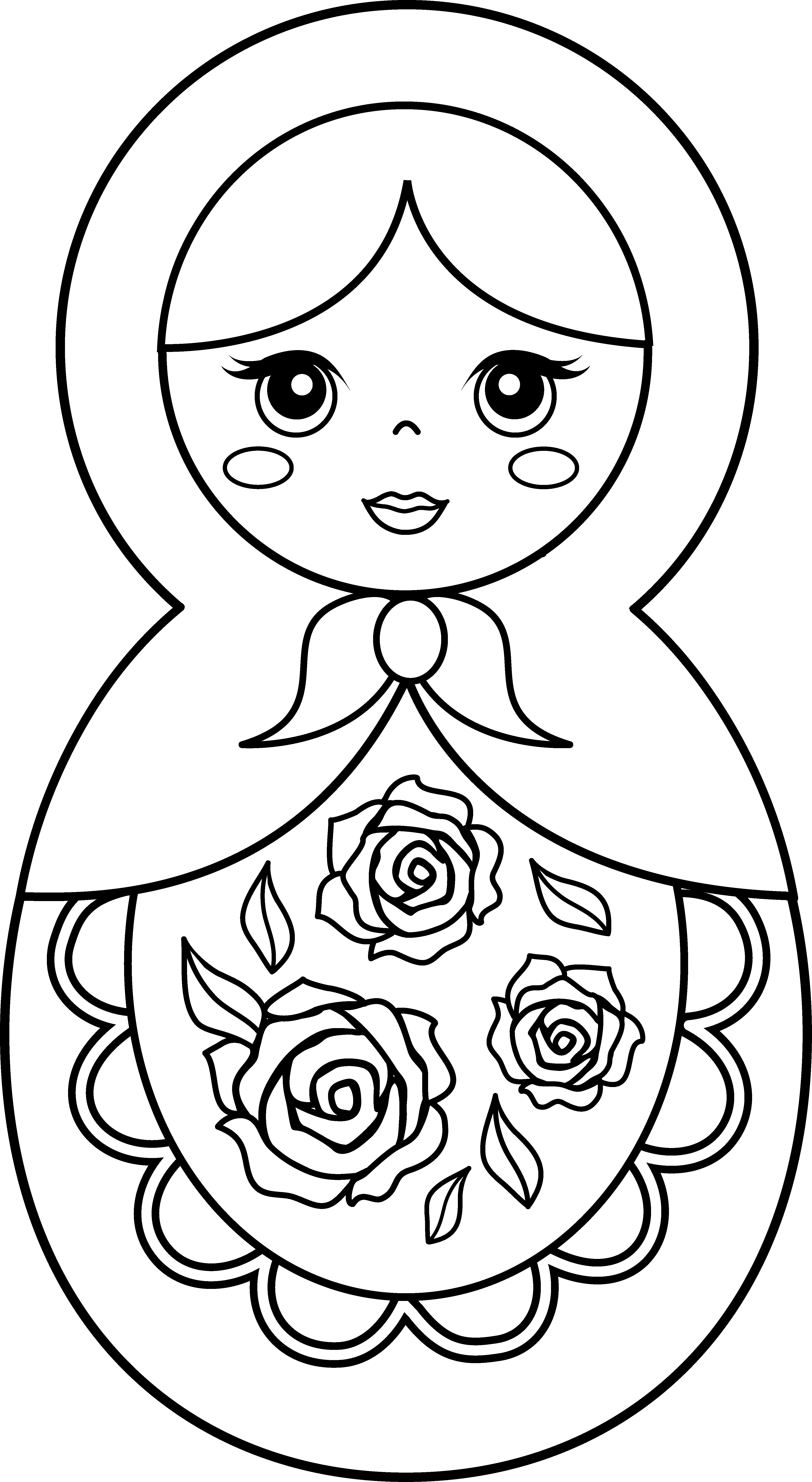 Clipart coloring book dog chew toys royalty free download Matryoshka doll Coloring book Paper doll Toy - Russian Doll Cliparts ... royalty free download