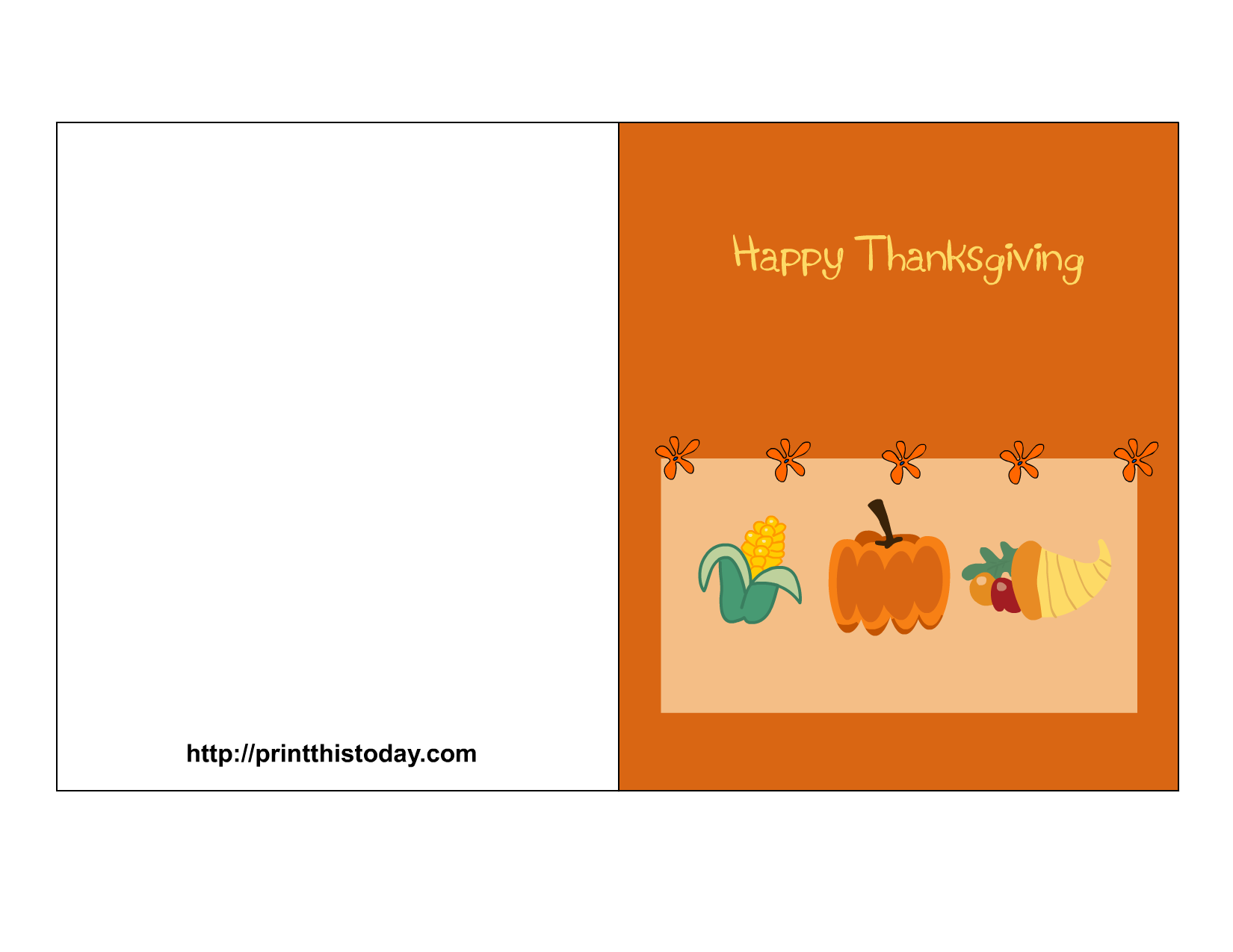 Thanksgiving card clipart svg transparent library Free Printable Thanksgiving Cards svg transparent library