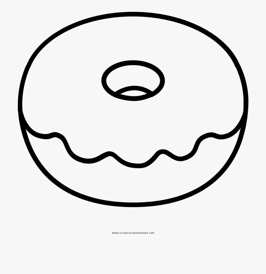 Clipart coloring pages image black and white Donut Coloring Pages Doughnut Page Ultra - Colouring Pages Of Donuts ... image black and white