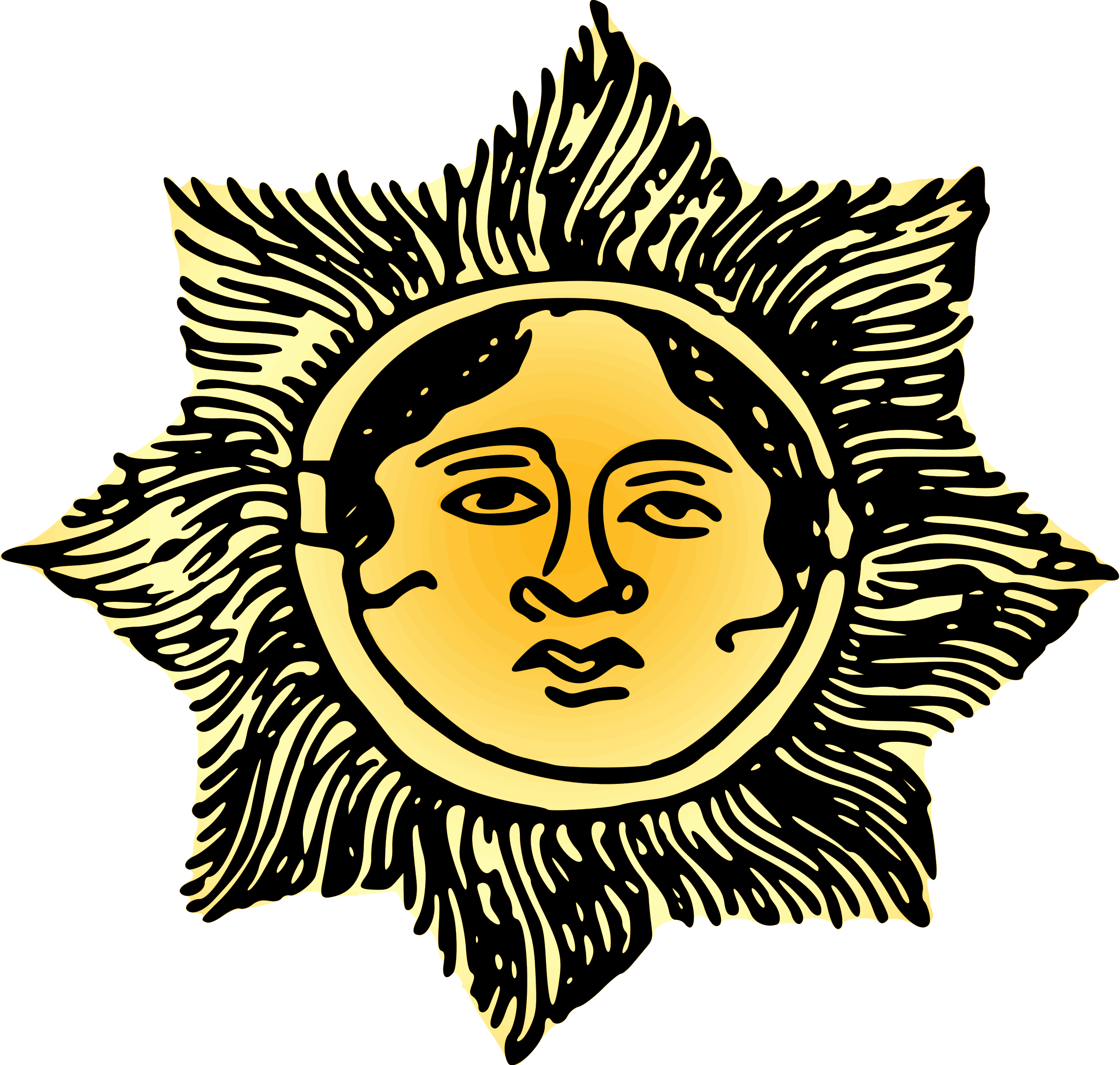 Clipart colors sun clipart download Face in the sun (colour) Icons PNG - Free PNG and Icons Downloads clipart download