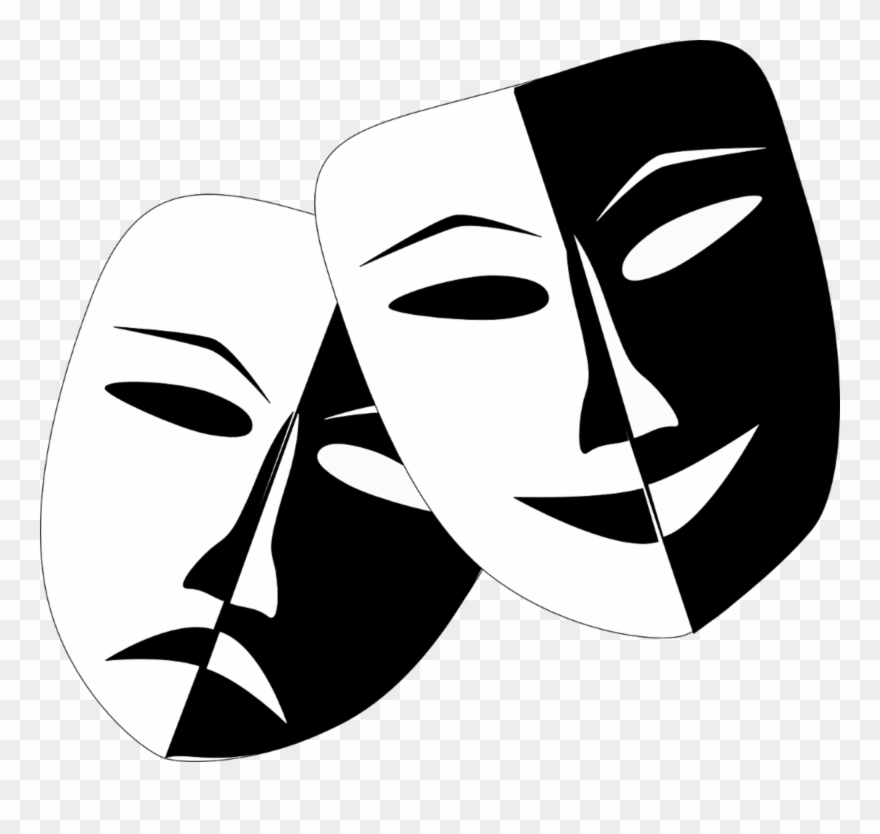 Clipart comupy picture freeuse library Comedy Masks - Theatre Masks Clipart (#66433) - PinClipart picture freeuse library