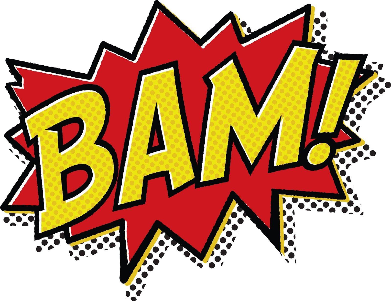 Clipart comic book vector library stock bam! picture super hero comic book décor diy | Batman! | Pop art ... vector library stock
