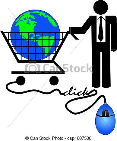 Clipart commerce gratuit clip black and white stock E commerce clipart free - ClipartFest clip black and white stock