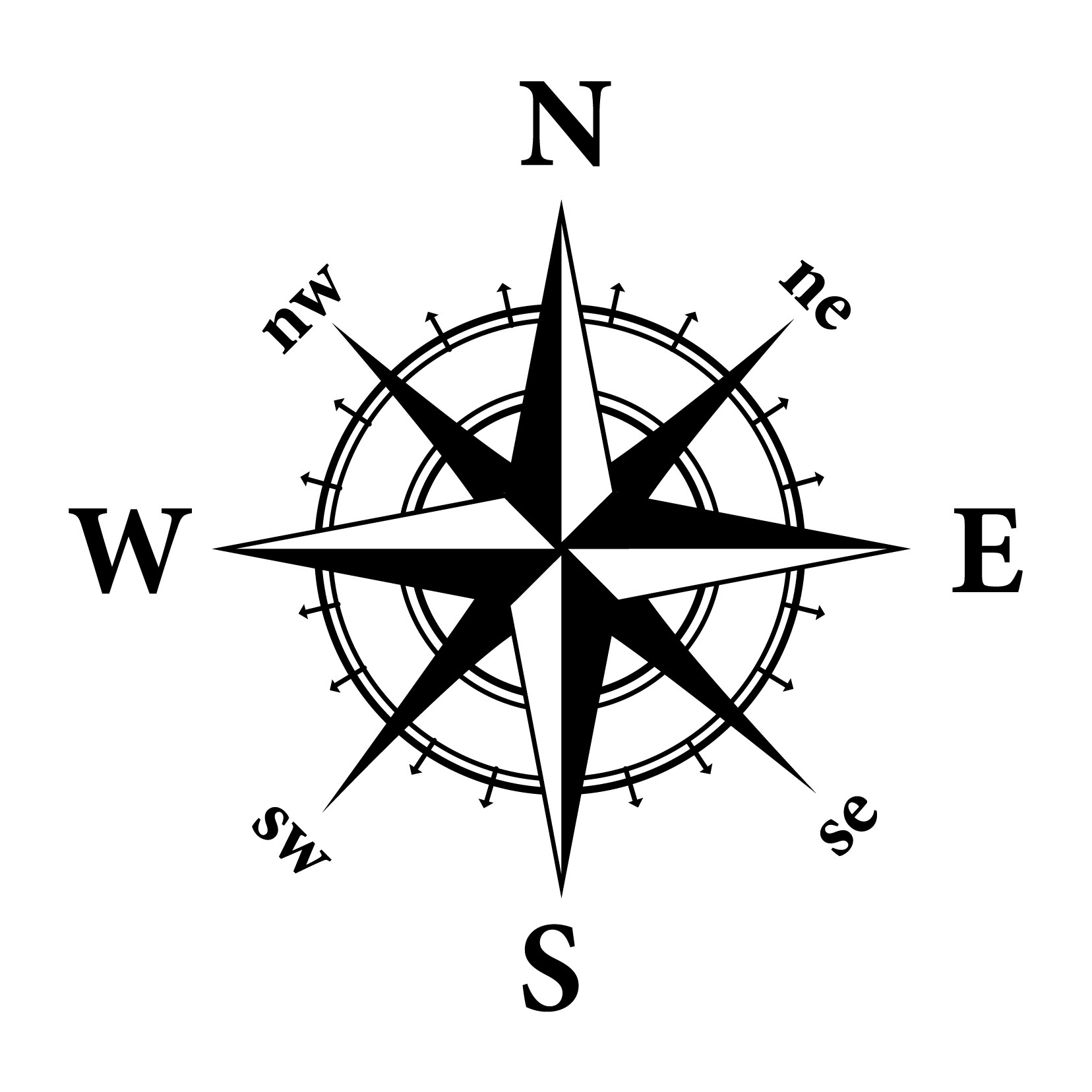 Clipart compass graphic freeuse Compass clip art at clker vector image - ClipartBarn graphic freeuse