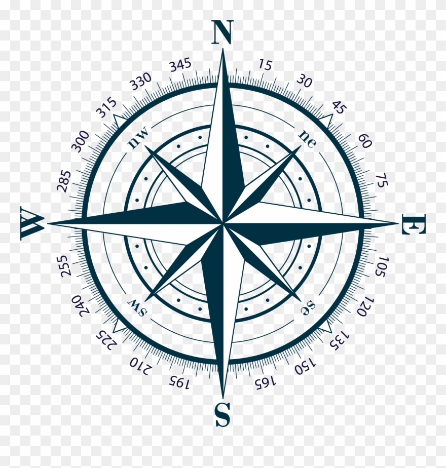 Scompass clipart clip transparent stock Compass Clipart Transparent Background - Compass Rose For A Map ... clip transparent stock
