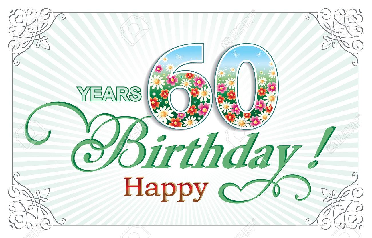 Clipart compleanno 60 anni svg royalty free download Biglietto Di Auguri Di Compleanno 60 Anni Clipart Royalty-free ... svg royalty free download