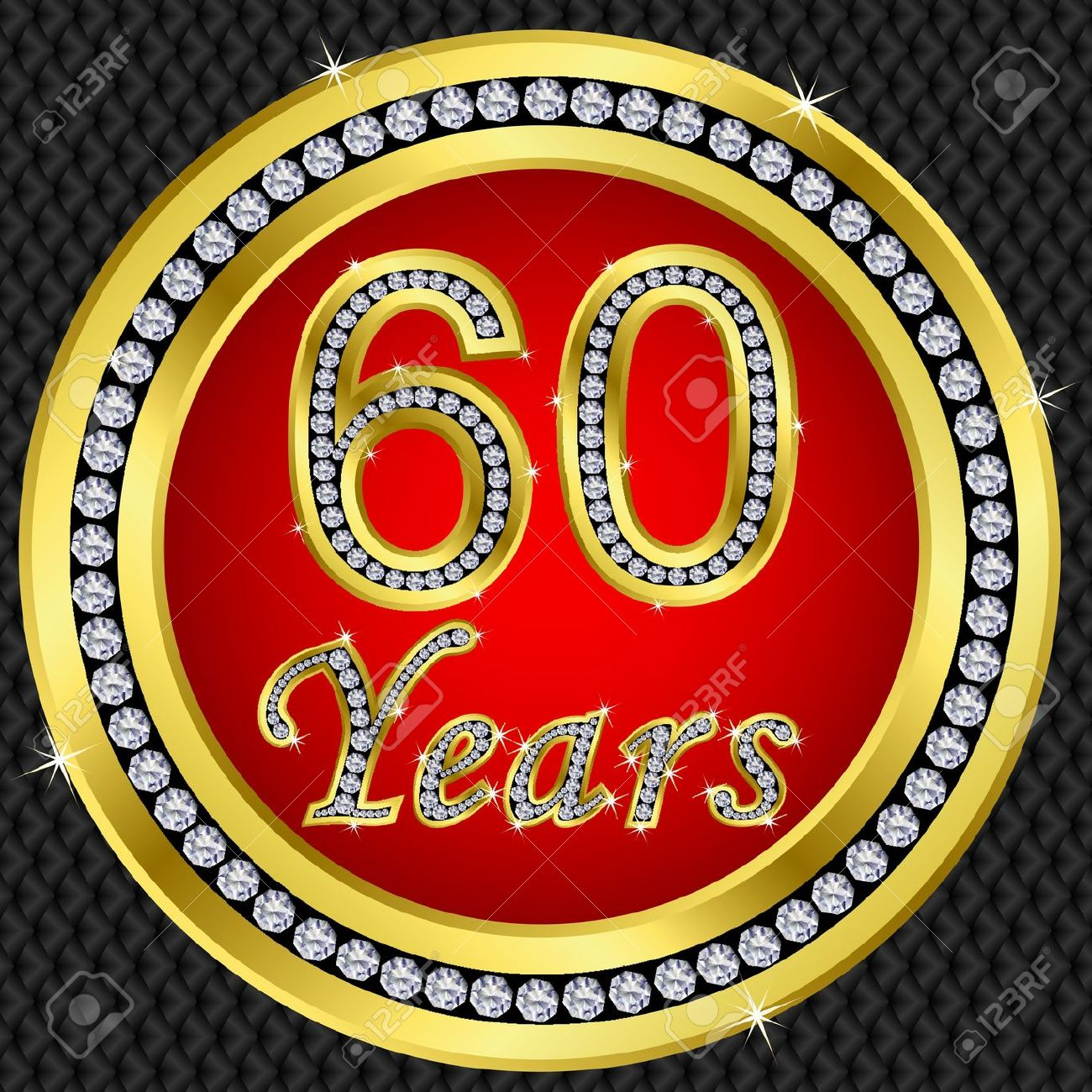 Clipart compleanno 60 anni png download 60 Anni Anniversario Icona Dorata Buon Compleanno Con Diamanti ... png download