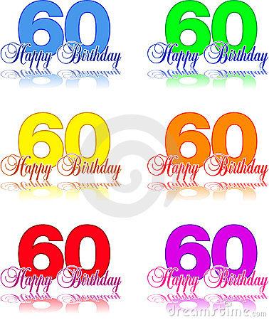 Clipart compleanno 60 anni banner freeuse stock Buon Compleanno 60 Immagini Stock Libere da Diritti - Immagine ... banner freeuse stock