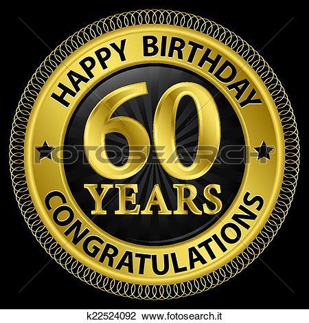 Clipart compleanno 60 anni banner library stock Clipart - 60, anni, buon compleanno, congratulazioni, oro ... banner library stock