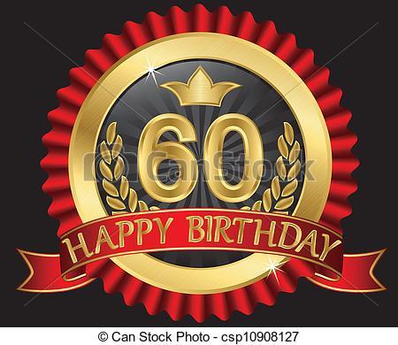 Clipart compleanno 60 anni graphic library Illustrazioni vettoriali di dorato, labe, anni, 60, compleanno ... graphic library