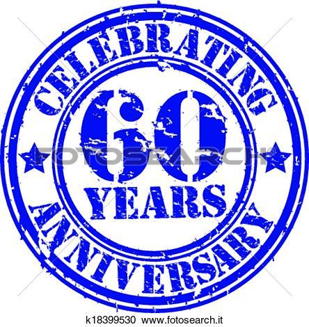 Clipart compleanno 60 anni clipart free stock Clipart - festeggiare, 60, anni, anniversario, gr k18399530 ... clipart free stock