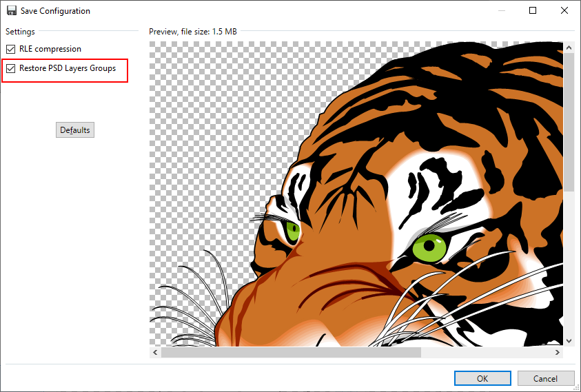 Clipart compression photoshop plugin